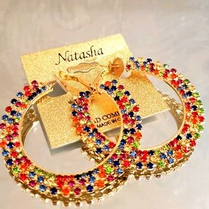 🌈Natasha Rainbow Hoop Earrings 😍